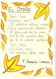 "Poema ""El Otoño"" F. García Lorca Dual Language Classroom, Bilingual Classroom, Spanish Classroom, Spanish Songs, Spanish Lessons, Spanish Memes, Elementary Spanish, Teaching Spanish, Spanish Activities"
