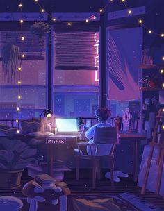Anime Backgrounds Wallpapers, Anime Wallpaper Live, Anime Scenery Wallpaper, Live Wallpapers, Animes Wallpapers, Night Aesthetic, Aesthetic Art, Aesthetic Anime, Arte 8 Bits