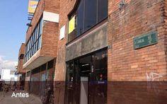 Remodelación de la fachada con EIFS sobre fachaleta existente. COLSUBSIO El Espectador Bogotá.  El producto de acabado es Aquarel XT y Vinicement D. Toda la remodelacion se realizó en 3 semanas. Octubre 2012