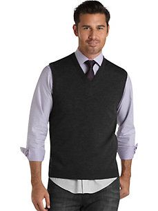Charcoal Gray Diamond Argyle Sweater Vest | Cardigans For Men ...