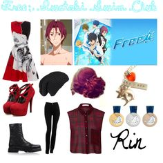 Rin- Free: Iwatobi Swim Club by jeanwgirl on Polyvore featuring Prabal Gurung, OPTIONS, Armani Jeans and Iris van Herpen