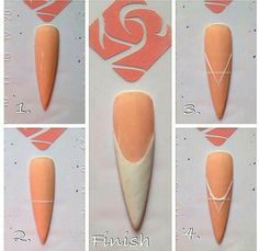 How to make the perfect French nail Gel Nail Art, Nail Art Diy, Easy Nail Art, Diy Nails, Acrylic Nails, Silver Nail Art, Nail Techniques, Nails Only, Rose Nails