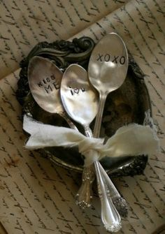 Hammered Spoons!  So many fun things you could use these for!