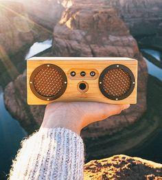 Ankara Bamboo Portable Bluetooth Speaker by Otis & Eleanor on Scoutmob
