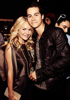 Dylan O´Brien and his girlfriend Britt Robertson. They look great together but I m still a sciles shipper.