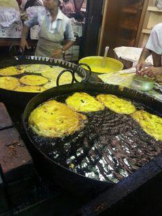 Making Malpoa at Mhmd Ali Road during Ramzan in Mumbai