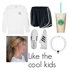 """Like the cool kids"" by pinterestemily on Polyvore featuring Billabong, NIKE and adidas"