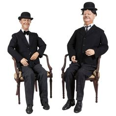 For Sale on 1stDibs - Mannequins of The Great Laurel and Hardy 'Another Fine shop you've got me into!!' The son of a British showman, Stan Laurel had been raised in British Child Mannequin, Hal Roach, Gothic Crown, Stan Laurel, Military Careers, French Collection, Laurel And Hardy, Cathedral City, New Comedies