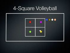 Physical Education Games - 4-Sqaure Volleyball