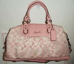 7cbddd93e09c Coach Signature ASHLEY Large Patent Leather Trim Satchel Shoulder Bag 15440   398  COACH  LargeSatchel