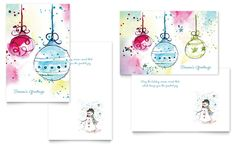 Christmas Card Templates Word Christmas Dreams Greeting Card  Microsoft Office Template  Xmas .