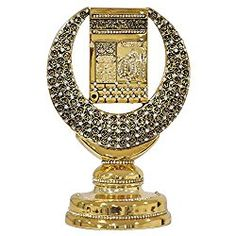 Islamic Home Decor. Kaaba with crescent rhinestones Islamic Art Sculpture Table Decor (Gold Tone) Allah Wallpaper, Islamic Wallpaper, Islamic Images, Islamic Art, Allah Names, Islamic Gifts, Sculpture Art, Rhinestones, Statue