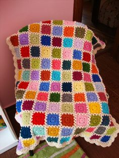 Kaleidoscope blanket: done :)