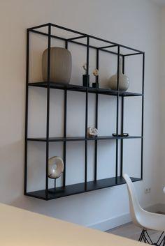 Plint Steel Furniture, My Furniture, Living Room Inspiration, Interior Inspiration, Black Wall Shelves, Interior Decorating, Interior Design, Inspired Homes, Home Decor Kitchen