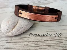 Mens Genuine Leather Gift Personalize Gift Customize by tovvanda