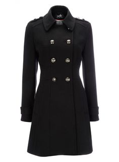 Black Military Coat - coats & jackets  - Women - £65 or £49.40 in sale