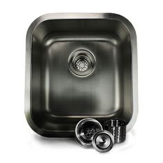 @Overstock.com - 16-inch Stainless Steel Undermount Bar Sink - This stainless steel bar sink features an undermount design and measures a compact 16 inches, making it ideal for use in small kitchen islands and bars. This sink comes with a deluxe HP-CBD colander drain, which protects your plumbing.   http://www.overstock.com/Home-Garden/16-inch-Stainless-Steel-Undermount-Bar-Sink/8110199/product.html?CID=214117 $99.99