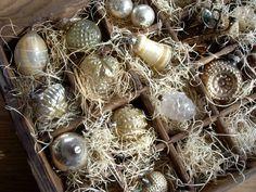 ☆ White Christmas Wonderland ☆  antique ornaments