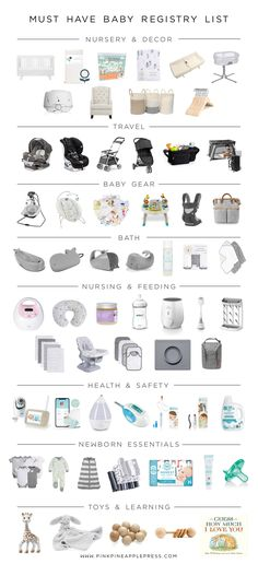 Must Have Baby Registry List! This is a complete list of baby essentials for first time moms. This is a comprehensive list of baby registry must haves! I have compiled a complete baby registry list th Best Baby Registry, Baby Registry Essentials, Baby Registry Checklist, Baby Registry Must Haves, Baby Registry Items, Newborn Essentials List, Baby Registry Amazon, Baby Checklist Newborn, New Baby Checklist