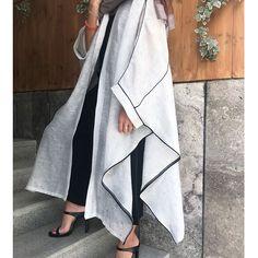 Street Hijab Fashion, Abaya Fashion, Muslim Fashion, Modest Fashion, Couture Fashion, Fashion Dresses, Fashion Fashion, Mode Abaya, Mode Hijab