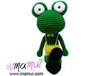 ตุ๊กตาถักน้องกบ 18.5 นิ้ว - mamui.com