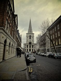 mbphotograph:London, England Follow me for more travel photography- mbphotograph enchantedengland: So this is Brushfield Street in Spitalfields, east London; with Nicolas Hawksmoor's English baroque Christ Church topping up the view. I also happen to be here, as in staying on the street next to this church. The trip has been quite amazing but do not fear, I shall tell of it elsewhere. I HAVE SO MANY LOVELY PHOTOS TO POST AAAAAUGH but I cannot get them from my new phone to my computer. It is…