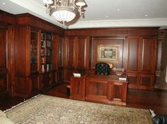 Custom home office with matching desk
