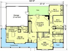 Open and Amenity Filled - 57050HA | 1st Floor Master Suite, CAD Available, Corner Lot, Country, PDF, Ranch, Wrap Around Porch | Architectural Designs