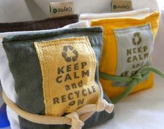 Dryer Pillow Sheets Sachet Keep Calm and Recycle On SET by zJayne, $12.75