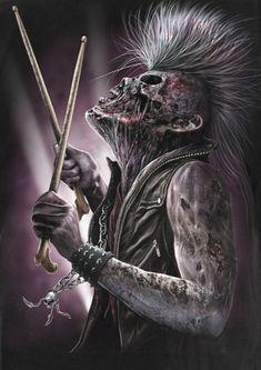 even in death Metal Skull, Skull Art, Dark Fantasy Art, Dark Art, Heavy Metal Art, Music Pics, Halloween Skull, Native Art, Concert Posters
