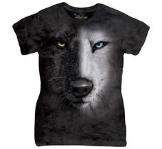 Tricouri The Mountain – Tricou Black And White Wolf Face Dama 3d T Shirts, T Shirts For Women, Clothes For Women, Wolf Face, Black And White Face, Wolf T Shirt, Wolf Spirit, White Wolf, Animal Faces