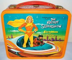 """vintagelunchboxarchive: """" 1976 - The Krofft Supershow: Wonderbug / Electra Woman and Dyna Girl Lunch Box """""""