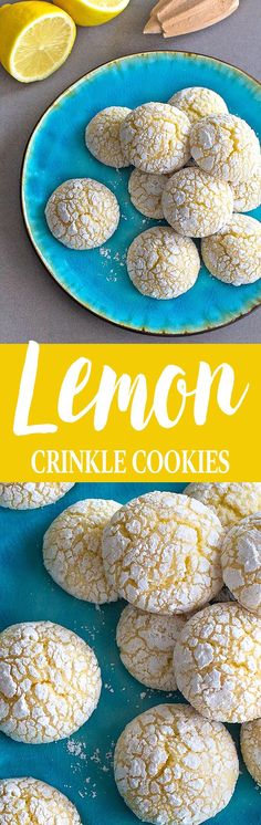 Easy lemon crinkle cookies made from scratch! Slightly crispy on the outside, soft on the inside, each cookie is packed with a delightful lemony flavor! (Baking Cookies From Scratch) Cookie Recipes From Scratch, Easy Cookie Recipes, Baking Recipes, Dessert Recipes, Lemon Crinkle Cookies, Lemon Cookies, Super Cookies, No Bake Cookies, Baking Cookies