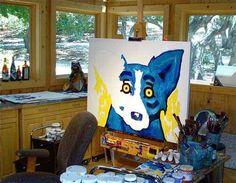 Blue Dog in process: George-rodrigue-studio