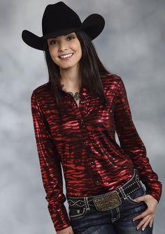 Roper® Women's Red & Black Animal Print Long Sleeve Snap Western Show Shirt Cow Girl, Cow Boys, Country Girl Style, Country Women, Country Girls, Cowgirl Outfits, Western Outfits, Western Wear, Western Girl