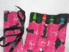 Kids party favors Diva mini crayon rolls by itsthesmallthings, $14.10
