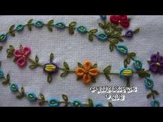 ▶ Rococo Pattern Embroidered Towels : Rokoko İşlemeli Havlu - YouTube