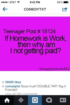 So true teenager post