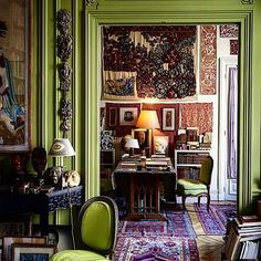 @botanicaetcetera Greenish No.2. The interior of artist Pierre Le-Tan's Paris…
