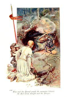 "Frank Cheyne Pape - The gateway to Spenser. Tales retold by Emily Underdown from ""The faerie queene"" of Edmund Spenser (1913) 6"