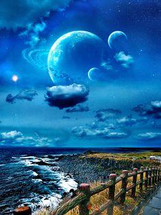 Planets universe far away