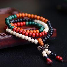 Fashion Bracelets Natural 6mm Rosewood Beads 108 Buddha Bracelets Men Women Long Bangle Religion Gift Wholesale Tibet Jewelry