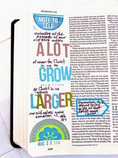 Bible Journaling : Hebrews 12:1   Bonita Rose