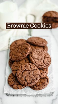 Cookie Recipes From Scratch, Easy Cookie Recipes, Dessert Recipes, Brownies, Cookie Dough Cake, Dark Chocolate Recipes, Chocolate Brownie Cookies, Savory Pastry, Delicious Deserts