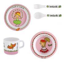 Coffret vaisselle PASO Louloute - rose