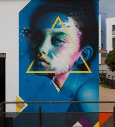 Street Art Best Of February 2018 - Street art and graffiti magazine Street Wall Art, Street Mural, Street Art Graffiti, Graffiti Artwork, Mural Art, Wall Murals, Yarn Bombing, Pavement Art, Alternative Art