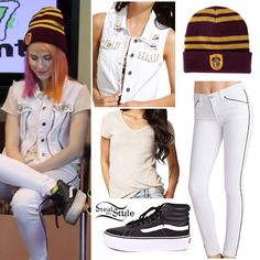 lead singer of Paramore Band Outfits, Cute Outfits, Punk Fashion, I Love Fashion, Hayley Williams Style, What To Wear Today, How To Wear, Celebrity Outfits, T Shirts For Women