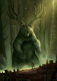 Dark Fantasy Art, Fantasy Artwork, Fantasy Kunst, Anime Fantasy, Forest Creatures, Mythical Creatures Art, Mythological Creatures, Magical Creatures, Dark Creatures