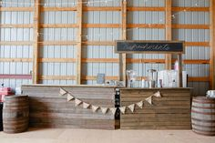 Jessica and Bobby Wedding Photo By Sterling Images Photography Machine Shed Wedding Bar Rustic Barn board