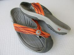 Keen women sandals size 6 Orange Canvas Thong #KEEN #Slides #Casual